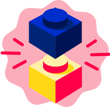 Lego blocks icon representing learning components