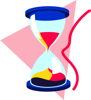 Hourglass icon representing time-length